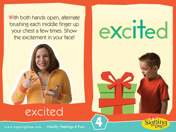 Excited Baby Sign Language ASL Dictionary USA