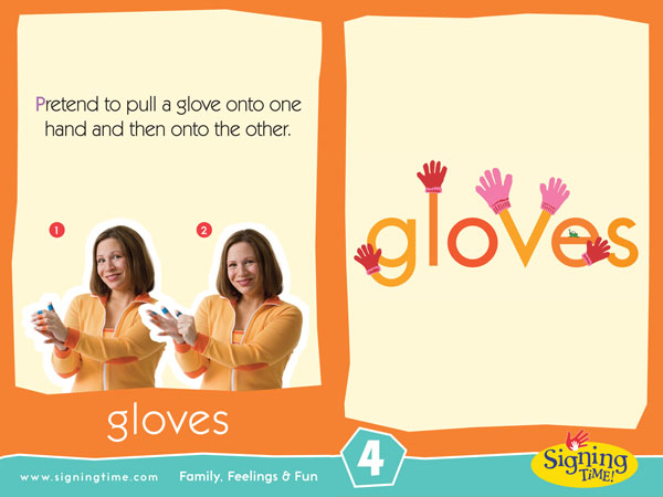 Gloves Baby Sign Language ASL Dictionary USA