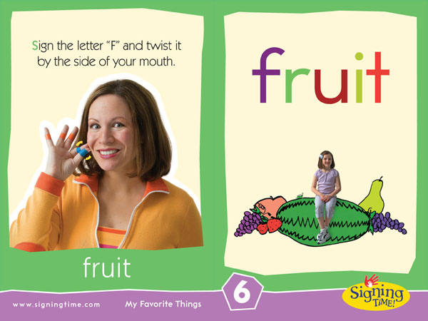 Fruit Baby Sign Language ASL Dictionary USA