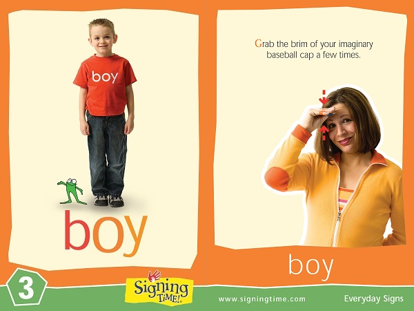 Boy American Sign Language Dictionary